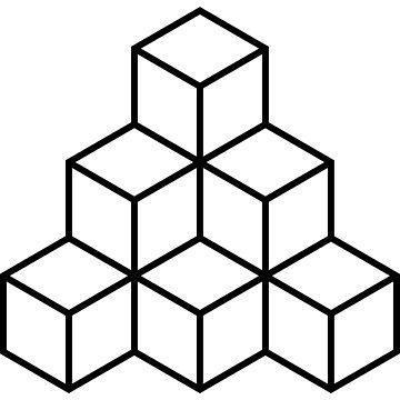 Geometric Blocks - Black by Artberry
