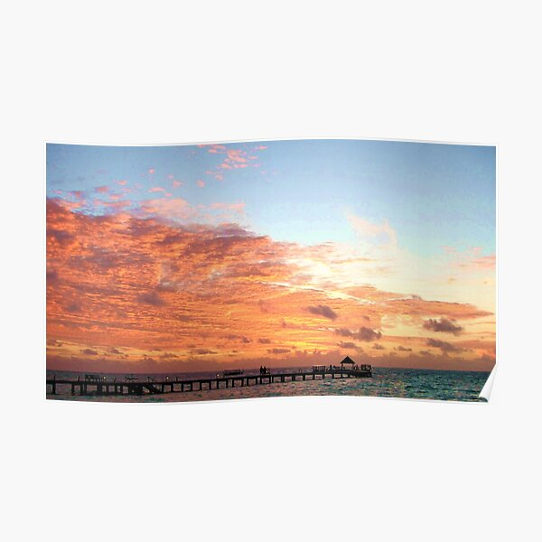 Maldives Sunset Sky Poster