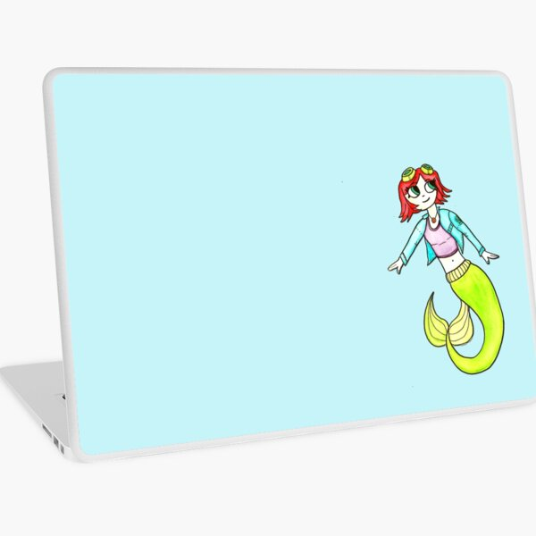 Scott Pilgrim Ramona Flowers Ariel Mermaid Mashup by Jayne Kitsch Laptop Skin