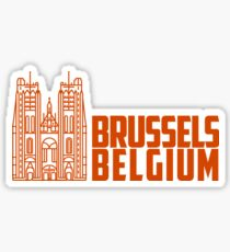 Brussels Belgium Sticker