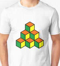 Geometric Blocks - Green, Orange and Yellow T-Shirt