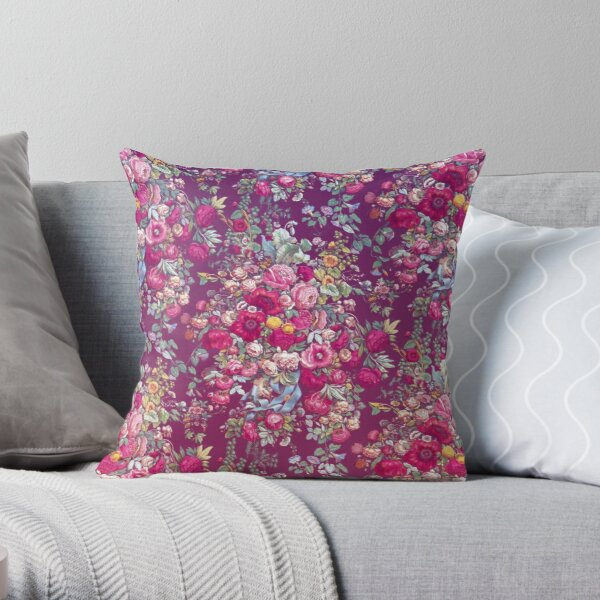 Bouquety Throw Pillow