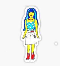 The Simpsons Fashion Barbie Illustration by Jayne Kitsch Sticker