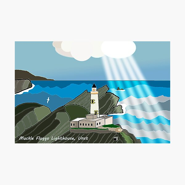 Muckle Flugga Lighthouse, Unst, Shetland Islands Photographic Print