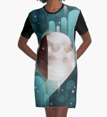 Fly me to the Moon Graphic T-Shirt Dress