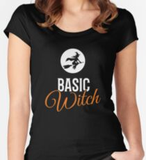 Basic Witch Halloween Women's Fitted Scoop T-Shirt