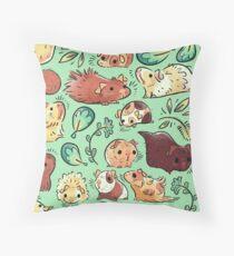 Guinea Pig Huddle Throw Pillow