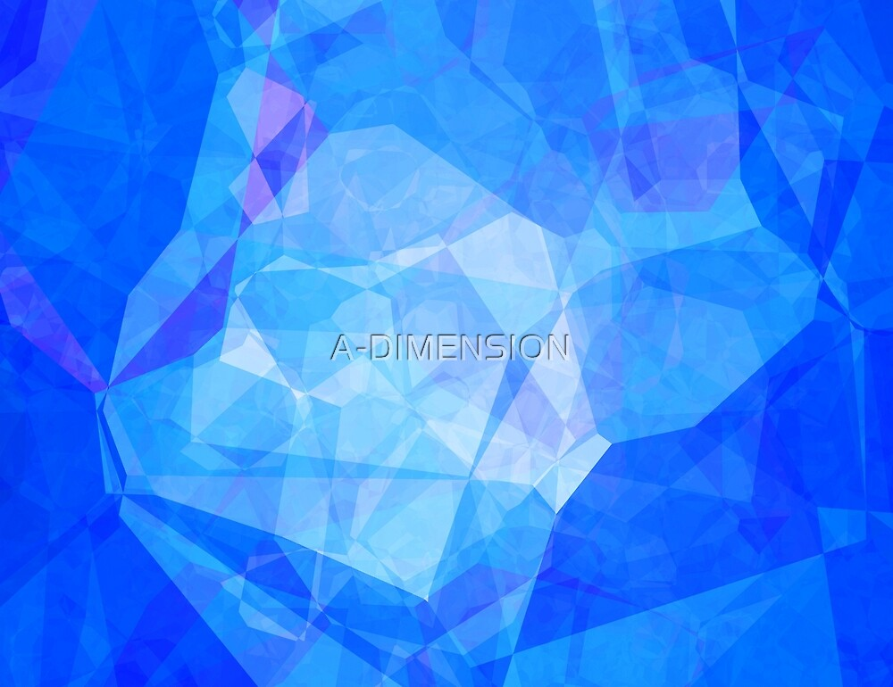 Polygons, Blue (Wallpaper, Background) by A-DIMENSION