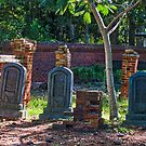 Three Old Tombstones from the 1800's by TJ Baccari Photography