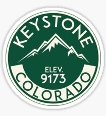 Keystone Colorado Skiing Mountains Ski Skier Snowboarding Sticker
