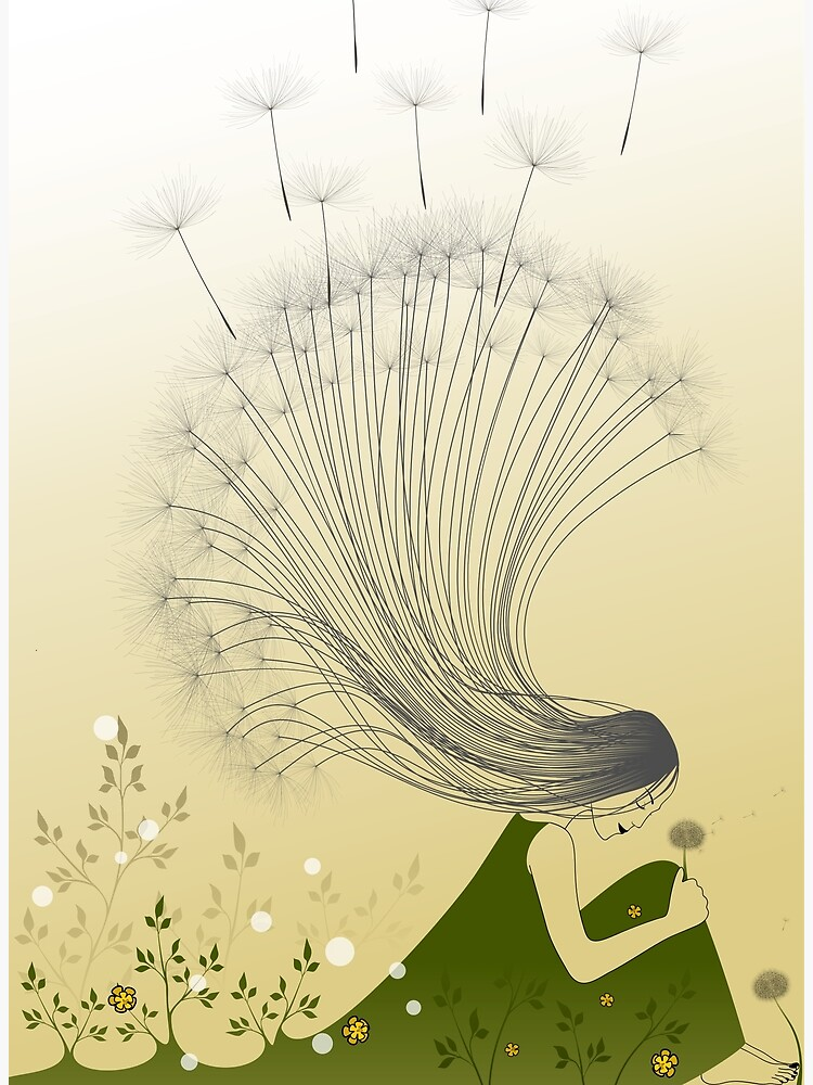 The Girl with Dandelion Hair by franzi