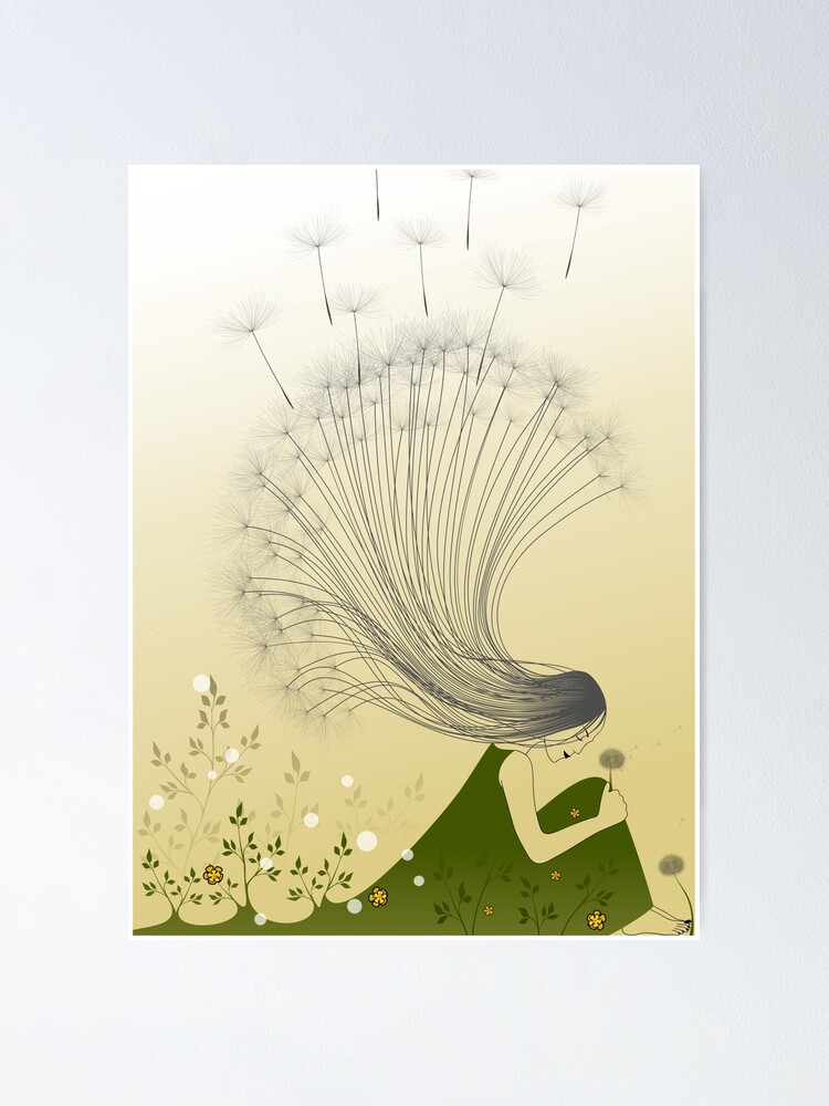 Alternate view of The Girl with Dandelion Hair Poster