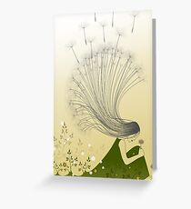 The Girl with Dandelion Hair Greeting Card