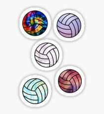 Volleyball-Aufkleber-Set Sticker