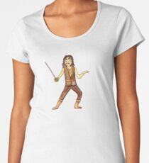 The Princess Bride Inigo Montoya with Sword Illustrated Character by Jayne Kitsch Women's Premium T-Shirt