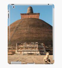 Dog and Jetavanarama Stupa, Anuradhapura iPad Case/Skin