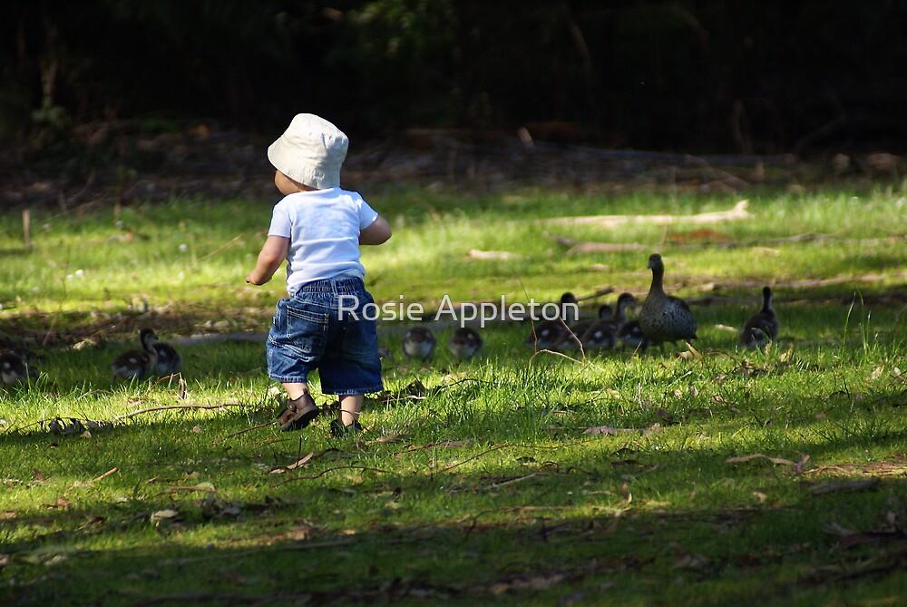Here ducky.... by Rosie Appleton