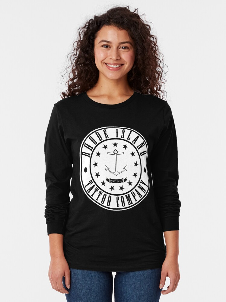 "Alternate view of Rhode Island Tattoo company ""Company Shirt"" Long Sleeve T-Shirt"