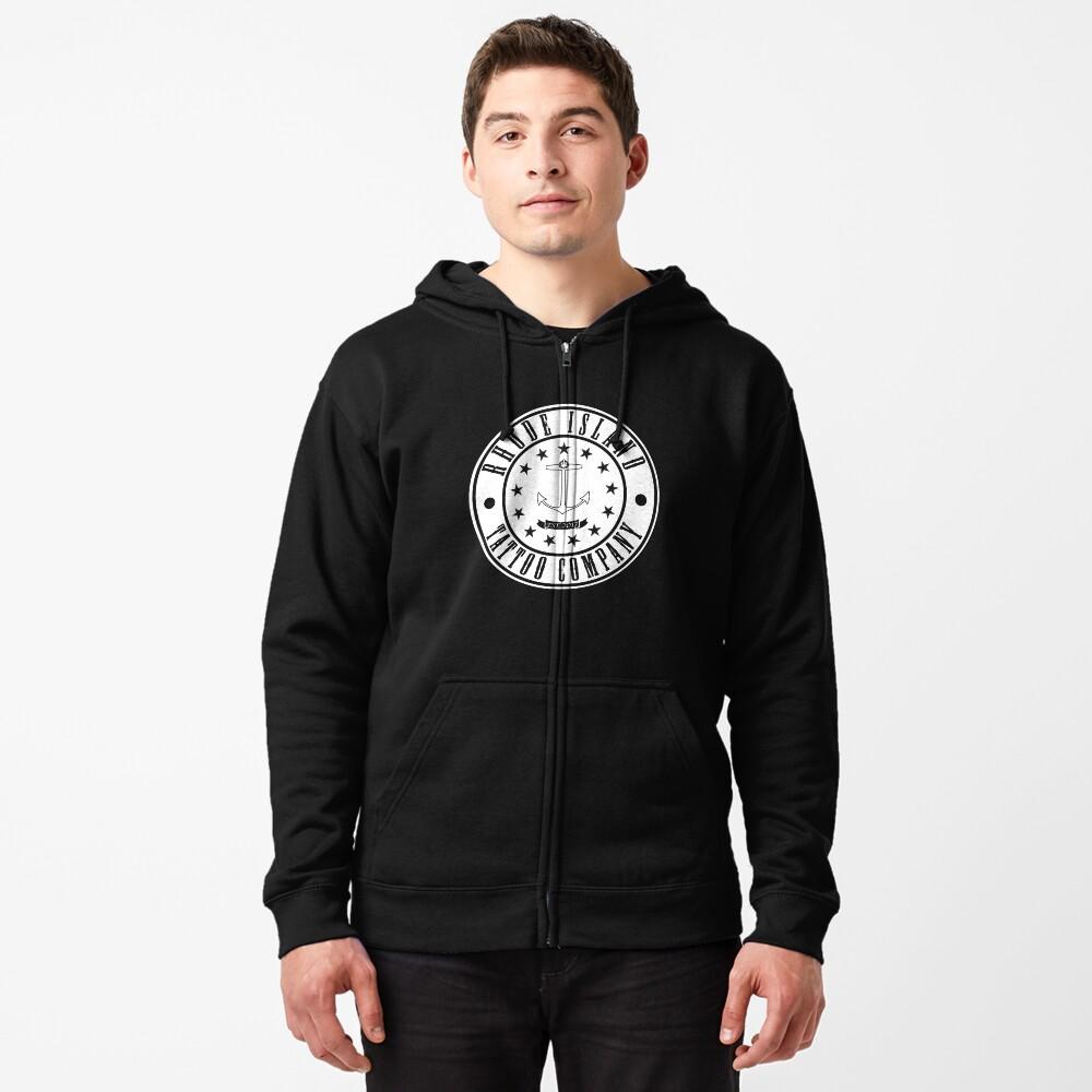 """Rhode Island Tattoo company """"Company Shirt"""" Zipped Hoodie"""