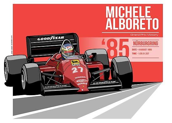 Michele Alboreto - 1985 Nürburgring by Evan DeCiren