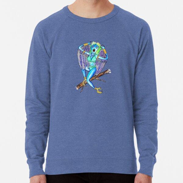 The Harpy - Greek Mythology Illustration Series by Jayne Kitsch Lightweight Sweatshirt