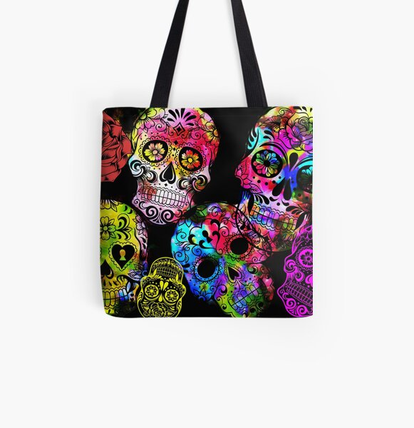 Sugar Skulls.  All Over Print Tote Bag