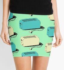 Toasters (mint & cream) Mini Skirt