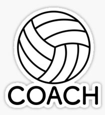Volleyball Coach Sticker