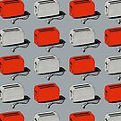 Toaster (red & grey) by wallpaperfiles