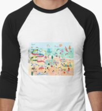 Wimmelbild Sommer am Strand T-Shirt