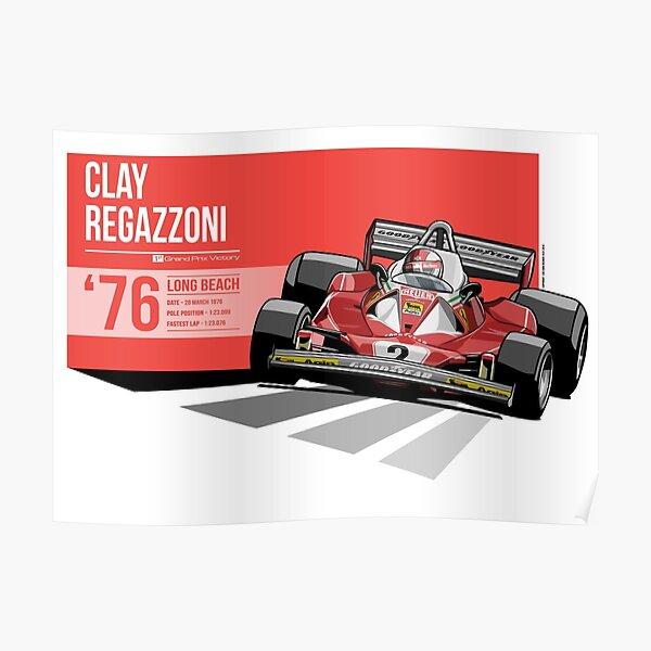 Clay Regazzoni - 1976 Long Beach Poster