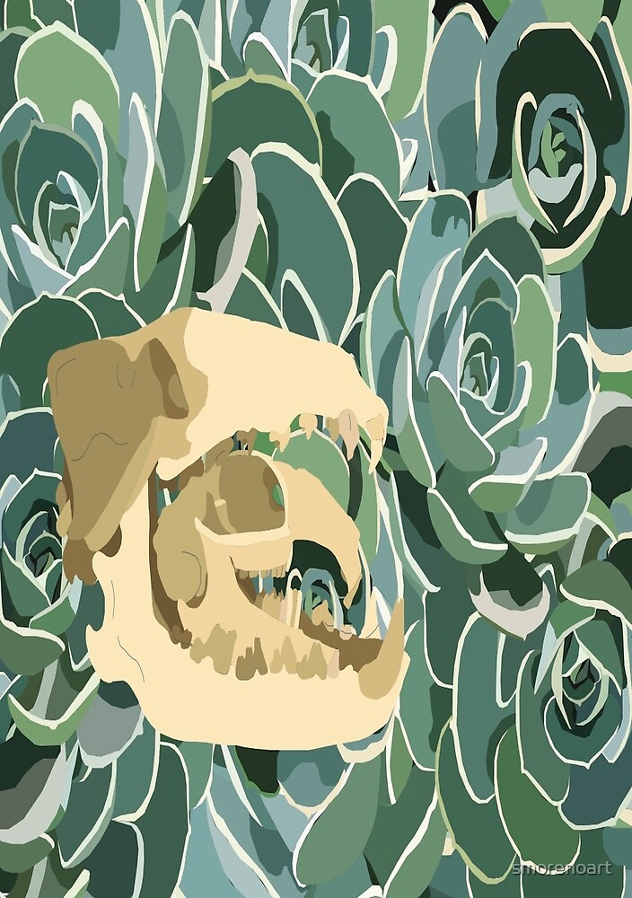 Succulents and Skulls by Sophia Moreno