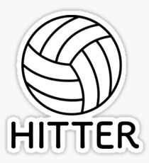 Volleyball-Hitter Sticker