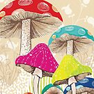 Magical Mushrooms by AmandaDilworth