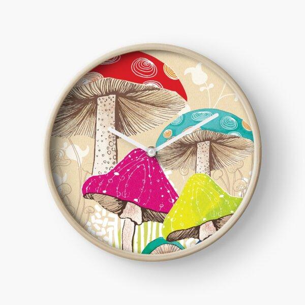Magical Mushrooms Clock