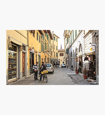 Early Morning Street Scene - Florence,  Italy  Photographic Print
