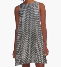 Hexagon mesh 2 - positive A-Line Dress
