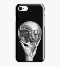 Hand with Reflecting Sphere iPhone Case/Skin
