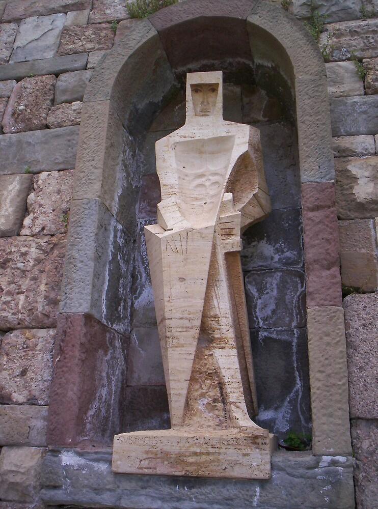 Statue of Knight by David Fulton