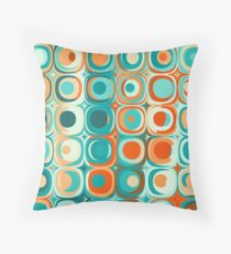 Turquoise and Orange Dots Floor Pillow
