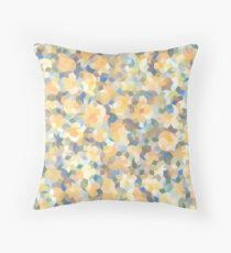 Mango Symphony Yellow Abstract Pattern Throw Pillow