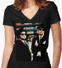 The Blues Brothers Women's Fitted V-Neck T-Shirt