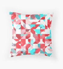 Staccato Red Throw Pillow