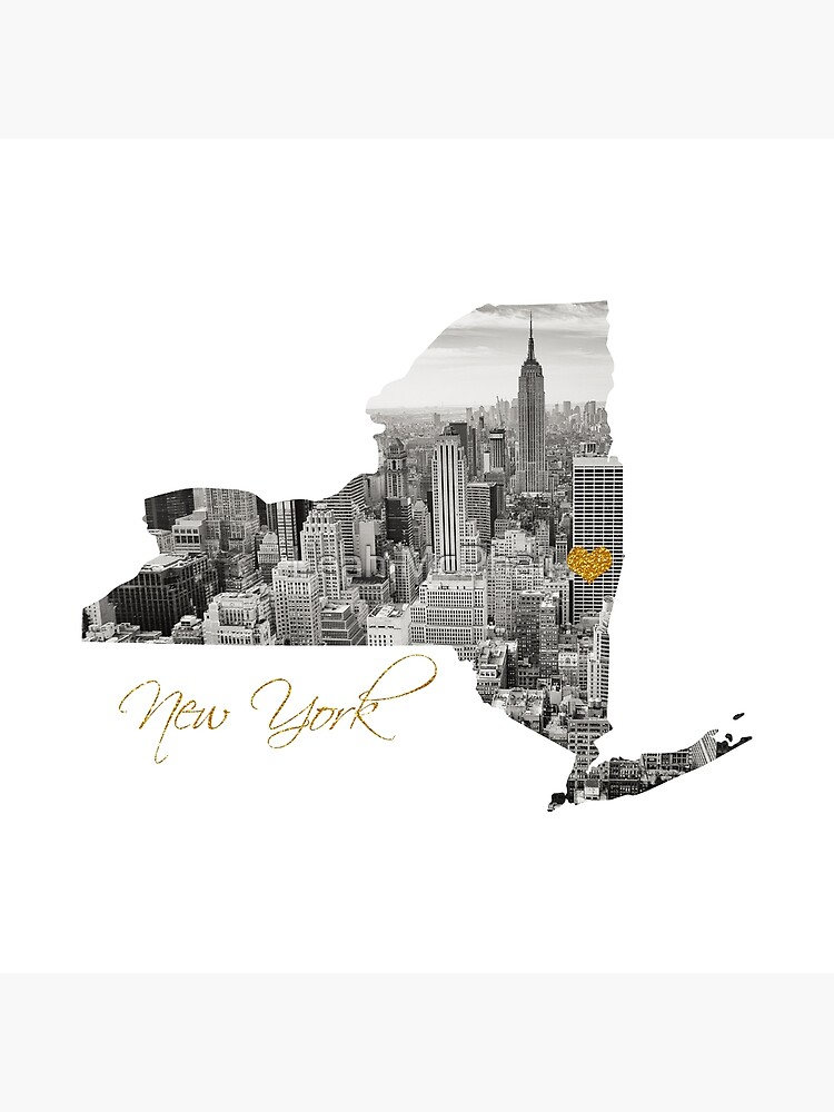 New York Map Cut Out  by LeahMcPhail
