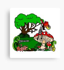 Magical Forest with Faerie Canvas Print