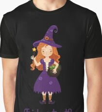 Little witch with a pot of potions. Graphic T-Shirt