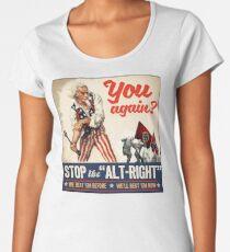 Antifa | Stop the Alt Right | Anti Trump Women's Premium T-Shirt