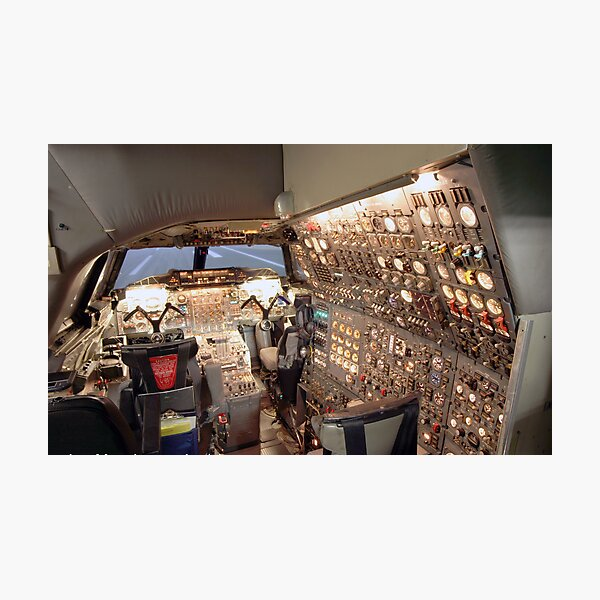 Concorde Flight Engineers panel Photographic Print