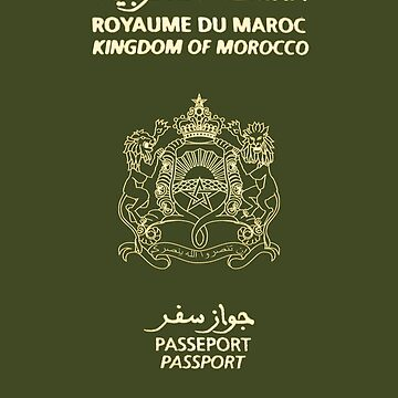 Moroccan Passport Tshirt by WeeTee