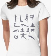 Yoga Poses and Postures Women's Fitted T-Shirt
